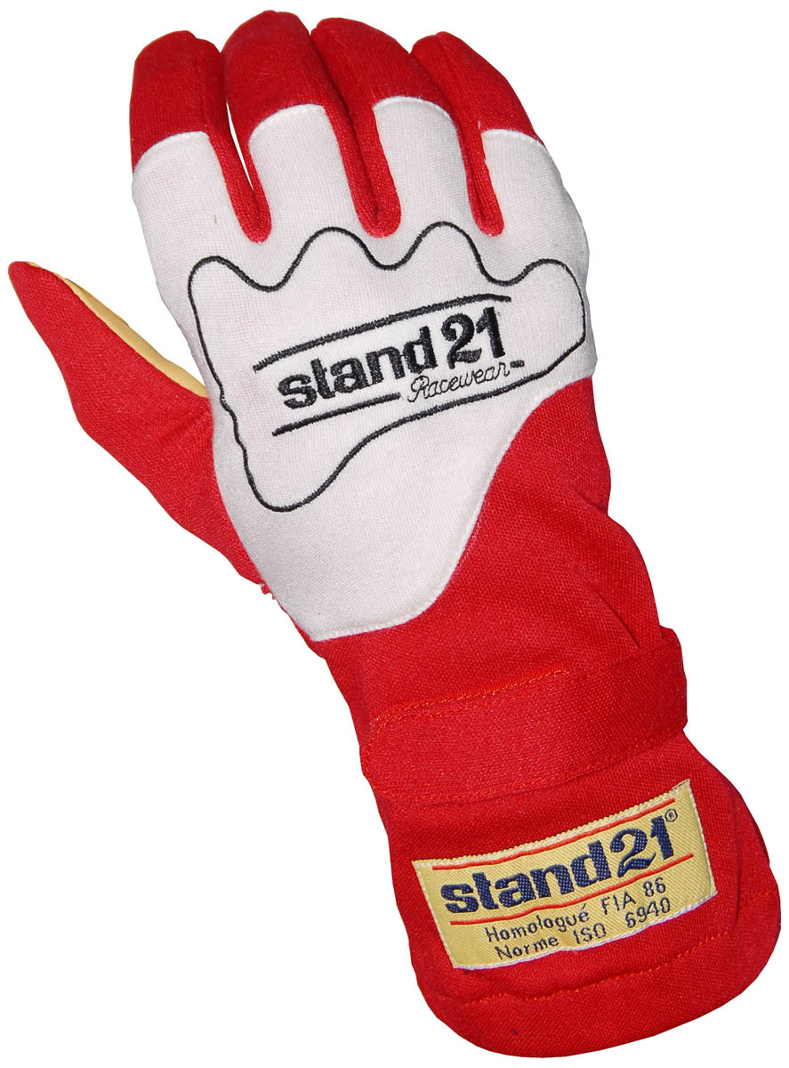 Stock red Carrera gloves
